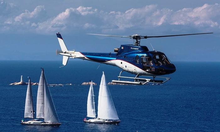 Addio al nubilato lago di Garda in elicottero