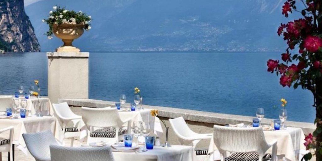 Terrazze per feste lago di Garda