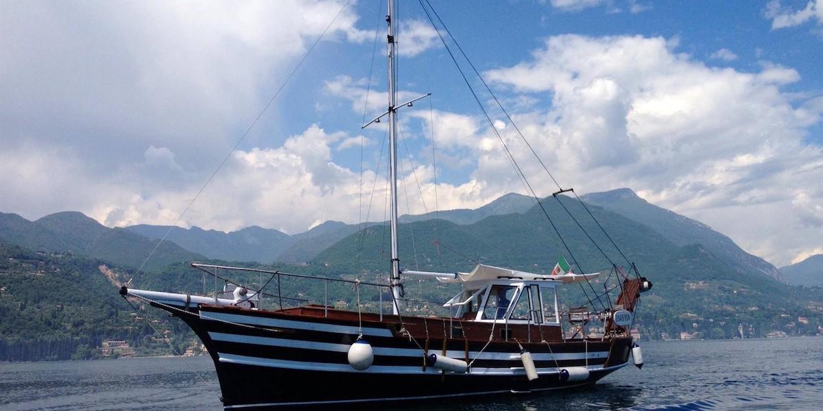 Cena in veliero lago di Garda