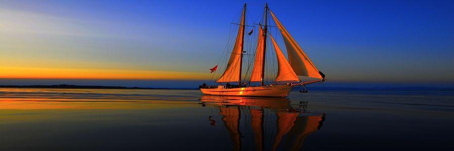 Cena romantica in barca a vela lago di Garda
