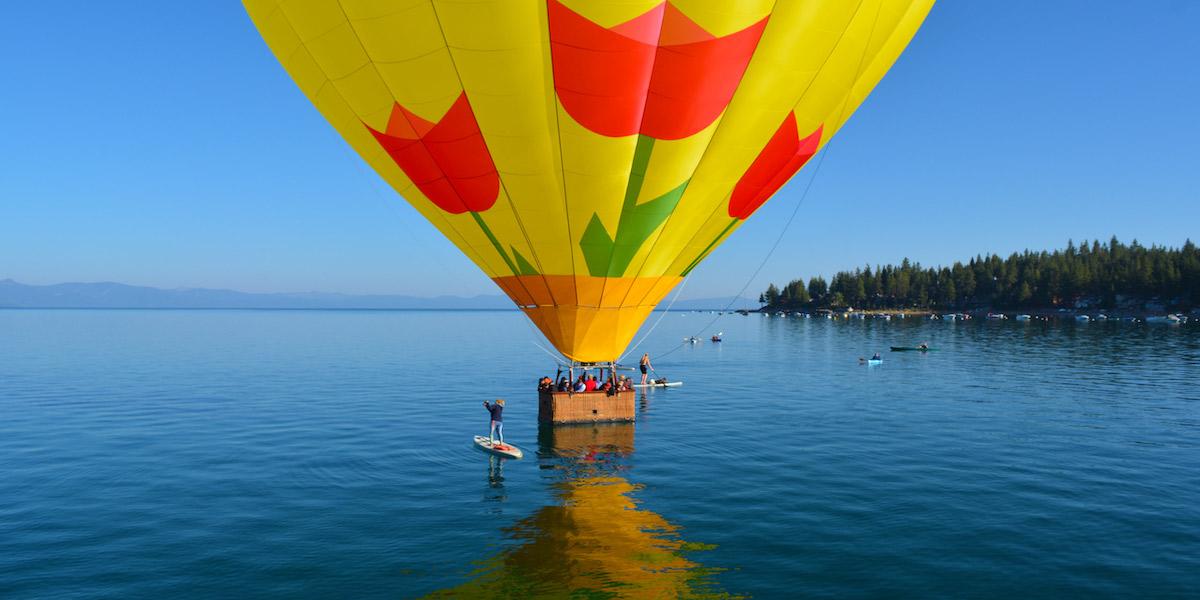 Giro in mongolfiera lago di Garda