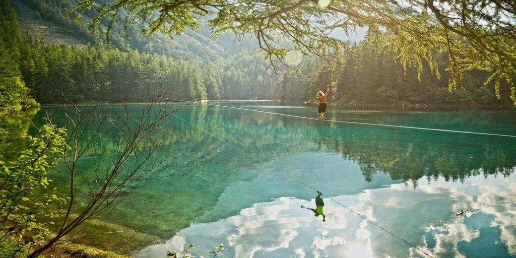 Slackline lago di Garda