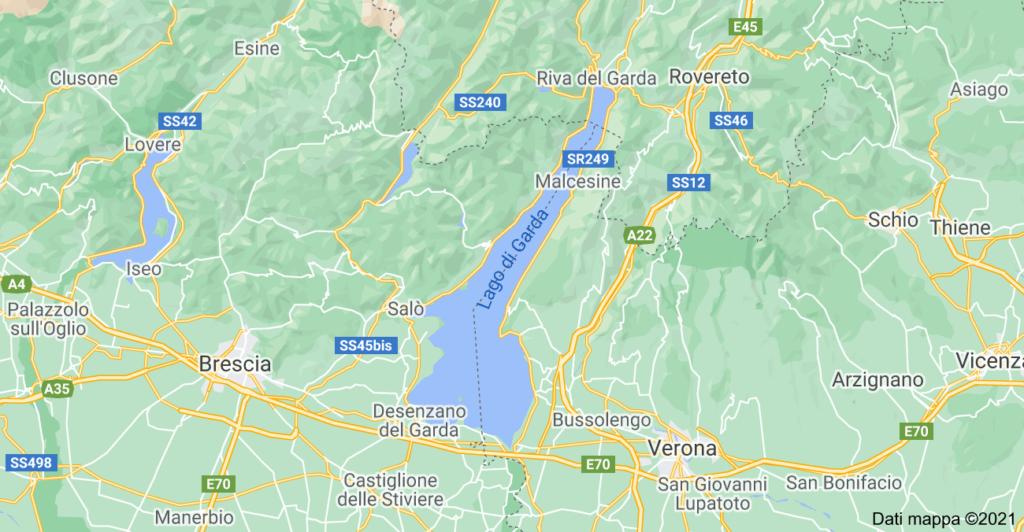 Lago di Garda Cartina