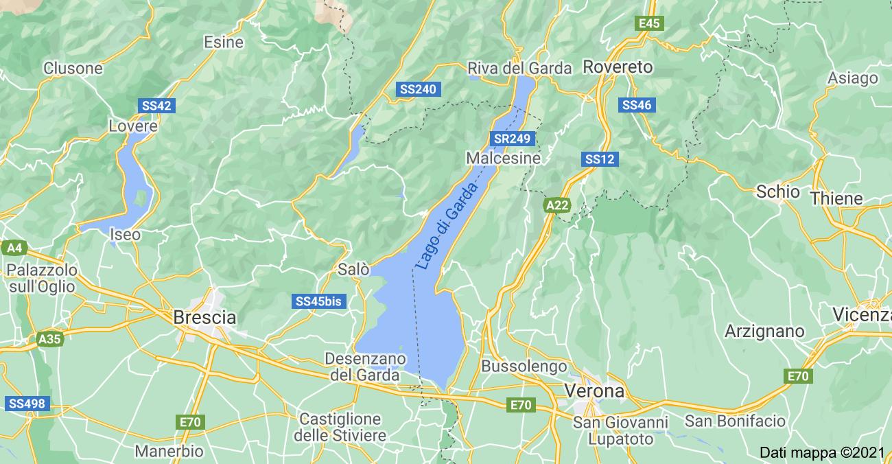 Lago Di Garda Cartina Fisica.Lago Di Garda Cartina