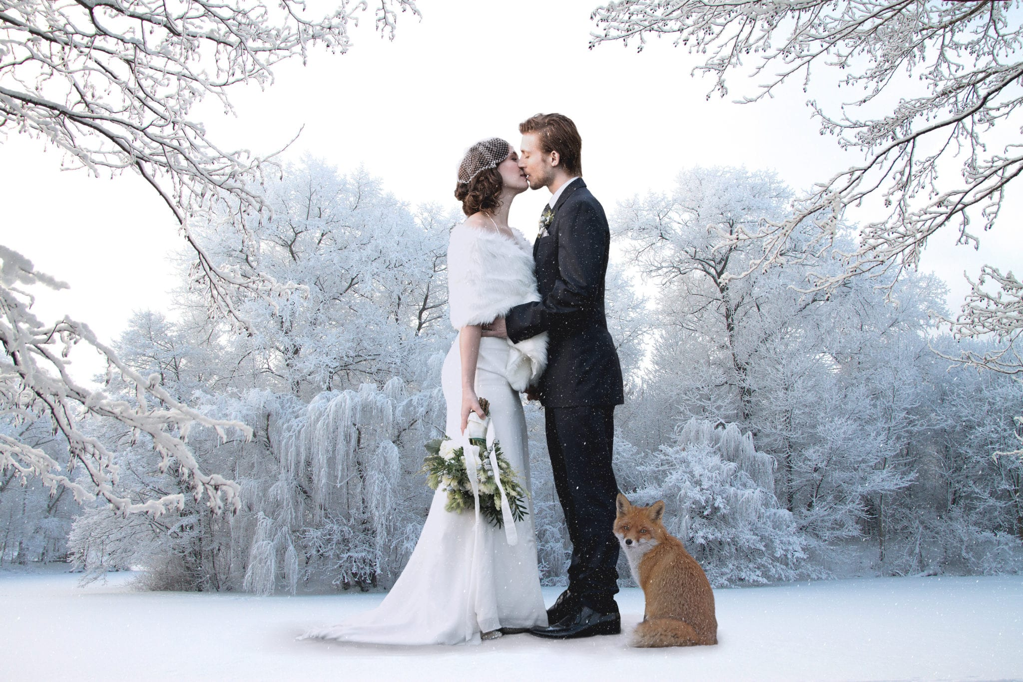 Matrimonio lago di Garda in inverno